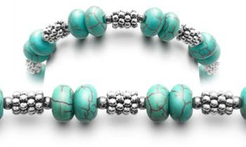 Designer Bead Medical Bracelets Turquoise Blues 0884