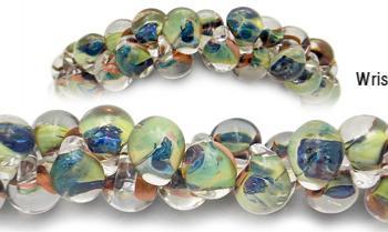 Designer Bead Medical Bracelets Green Seas 2052