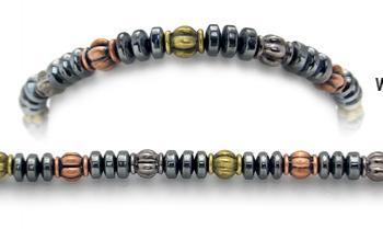 Designer Bead Medical Bracelets Petite Discs Tri-Color II 0956