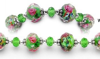 Designer Bead Medical Bracelets Renaissance Gardens 0977