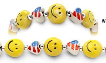 Designer Bead Medical Bracelets Patriot Smiles 0978