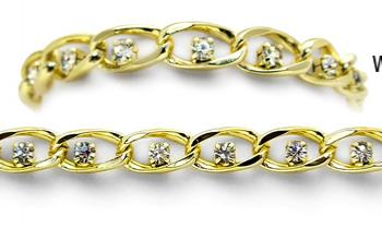 Designer Gold Tennis Medical Bracelets Belli Diamonti Oro 0987