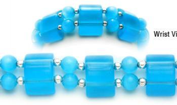 Designer Bead Medical Bracelets Eyes Have It-Aqua 1047