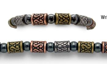 Designer Bead Medical Bracelets Tri-Color Tapa 1132