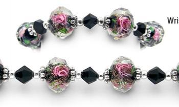 Womans Bead Medical Bracelets Ballroom Elegance 1162