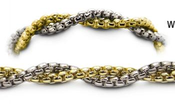 Designer Gold-Silver Medical Bracelets Embrace 1186