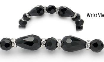 Designer Bead Medical Little Black Bracelet 12092