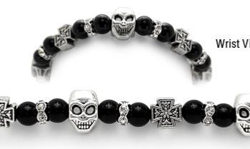 Designer Bead Medical ID Bracelets Skull Duggery 1211