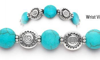 Designer Bead Medical ID Bracelets Navajo Sun 1346