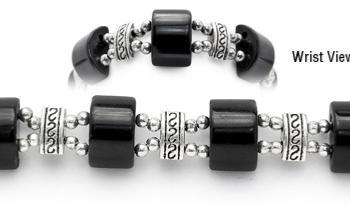 Designer Bead Medical Bracelets Mystique Black 1358