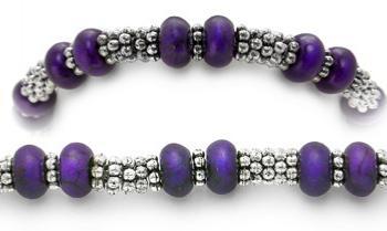 Designer Bead Medical Bracelets Purple Passion Lady 1374
