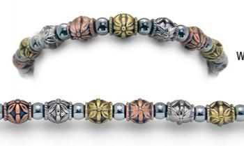 Designer Bead Medical Bracelets Metal Works 1409