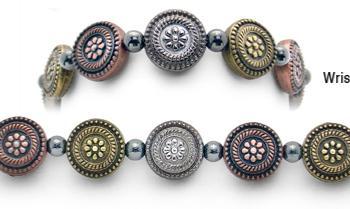 Designer Bead Medical Bracelets Desert Flowers II 1410