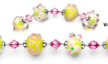 Designer Bead Medical ID Bracelets Blooming Sakurai 1443