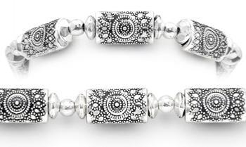 Designer Bead Medical ID Bracelets Sunburst Mandala 1465