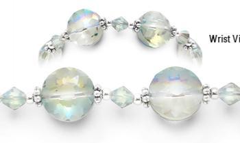 Designer Crystal Medical Bracelets Frosted Kaleidoscope 1471