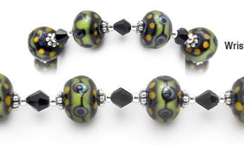Designer Bead Medical Bracelets Rainforest 1503