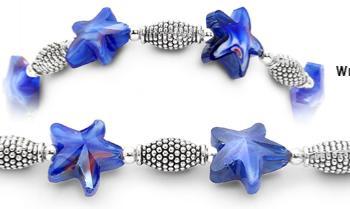 Designer Bead Medical Bracelets Navy Sea Star Waves 1533