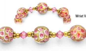 Designer Fashion Bead Medical ID Bracelets Blushing Radiance 1551