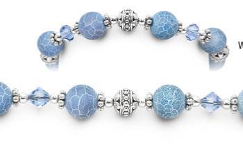 Designer Bead Medical Bracelets Spider Lace 1581