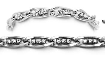 Designer Silver & Diamond Medical Bracelets Tritalia 1594