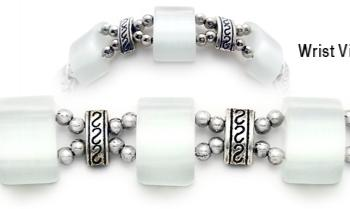 Designer Bead Medical Bracelets Mystique White 1697