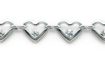 Designer Silver-Diamond Medical Bracelets Amore 1729
