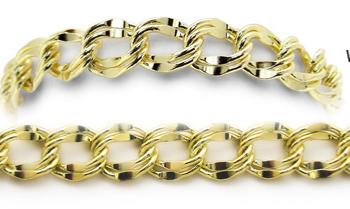 Designer Gold Medical Bracelets Sole Dorato Oro 1730