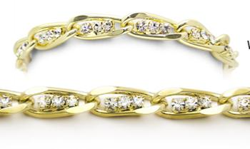 Designer Diamond-Gold Medical Bracelets Tritalia Oro 1731