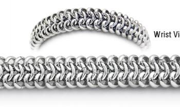 Designer Stainless Medical Bracelets Pelle di Serpente 1777