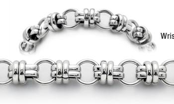 Stainless Steel Medical ID Bracelet Amore Duro 1781