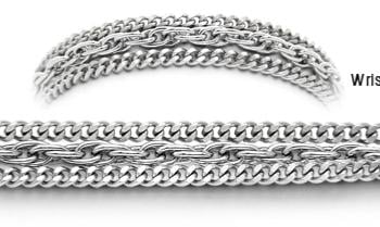 Designer Stainless Medical ID Bracelets Capelli D'argento 1782