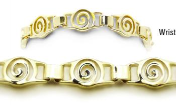 Designer Gold Medical Bracelets Bella Contessa Oro 1785
