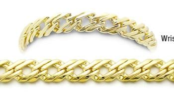 Designer Gold Medical Bracelets Metalia Oro 1787