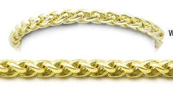 Designer Gold Medical Bracelets Bella Coda Oro 1788