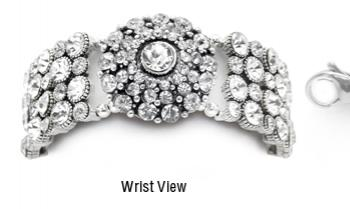 Designer Rhinestone Medical Bracelets Sparking Dome Palace 1793