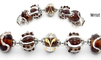 Designer Bead Medical Bracelets Funky Formations 1802