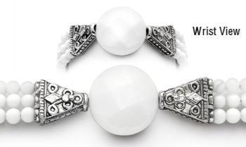 Designer Bead Medical ID Bracelet Burning White 1824