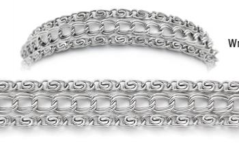 Designer Stainless Three Strand Medical Bracelet Impressionato 1895