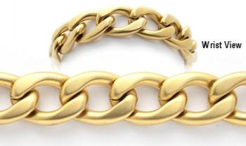 Gold Over Stainless Medical Bracelets Una Breve Corsa 1911