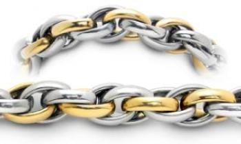 Designer Gold & Stainless Medical Bracelet Dorato Corteccia 1922