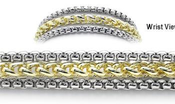 Designer Gold-Silver Medical Bracelets One Snowy Aspen 1923