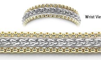 Designer Gold-Silver Medical Bracelets Two Snowy Aspen 1924