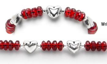 Designer Bead Medical Bracelets Winter Hearts 1936