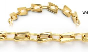Designer Gold Over Stainless Medical Bracelets Piccole Dolomiti 1940