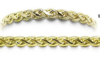 Designer Gold Medical Bracelets Bello Pizzo Oro 1956