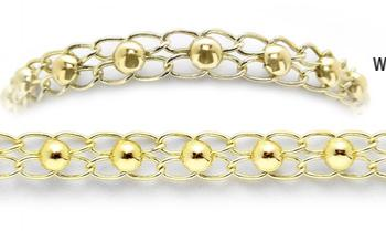 Designer Gold Medical Bracelets Cerchi de Oro 1963