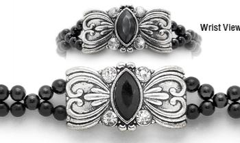 Designer Rhinestone Medical Bracelets Victorian Princess 1985