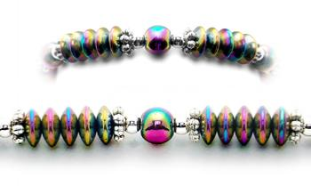 Designer Bead Medical Bracelets Rainbows in Springtime 1990