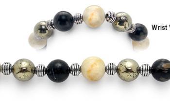 Designer Bead Medical Bracelets Golden Protector 2046